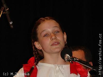 <b>Barbora ŠEDIVÁ</b> z Karlových Varů, <b>BRONZOVÝ ZPĚVÁČEK 2007</B>