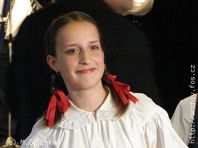 <B>ZLATÝ ZPĚVÁČEK ROKU 2007 Kristýna DAŇHELOVÁ</B> z Uherského Hradiště