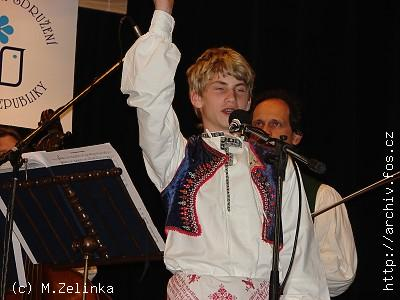 <b>Michal ŠABRŠULA</b> ze Zlína, <b>STŘÍBRNÝ ZPĚVÁČEK 2007</B>